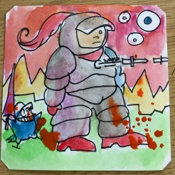 Get ye generation & shoot knives out of your knightly chest. GET READY! Enter the Relm on the Archimedes Computer @Macaw45